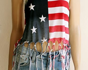 SALE - 4th of July. American Flag Clothing. Music Festival Clothing. . Fringe Tank Top. American Flag Racerback Tank. July 4th. Flag Shirts