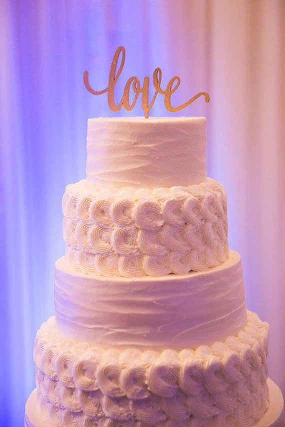 Love Cake Topper, Wedding Cake Topper, Cake Topper For Wedding, Wedding Cake, Trending Cake Topper, Silver Wedding Decor, Gold Wedding Decor