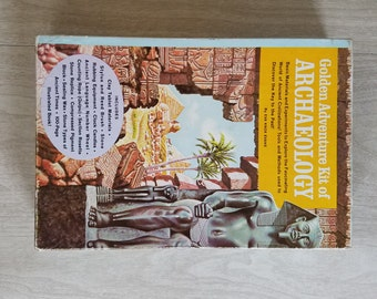 Vintage Golden Adventure Kit of Archaeology 1962 Made in the USA Tactile