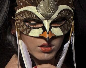 Swan Lake Fairy Tale Ballerina White Swan Princess Queen Leather Mardi Gras Masquerade Mask