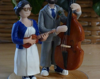 Very personalized CAKE TOPPER - custom - your story! Wedding birthday party Figurine cake décor! Porcelain cold saeljana