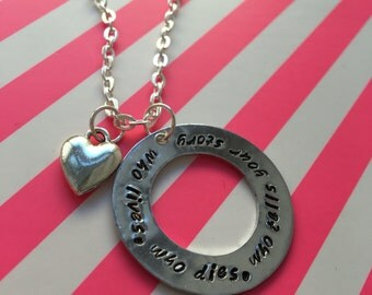 Who Lives, Who Dies, Who Tells Your Story Hamilton Necklace