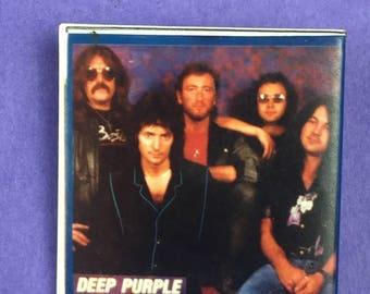 Deep Purple Original 1980s Vintage Dead Stock Square Pin