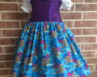 Boutique custom Shimmer and Shine, Genie dress, Genie outfit, Shimmer outfit, Shine outfit, Shimmer dress, Shine dress