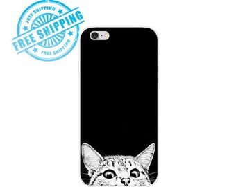 CAT BLACK iphone Black phone case CAT iphone 7 plus case cat iphone 6 plus case kitten iPhone 6 plus case phone case iPhone 6