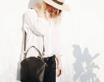 Leather Bag Black, Blogger Bag, Design Bag, Minimal Bag, It Bag, Shoulder Bag, Woman Bag, Modern Bag, Handbag, Gift for Her, Boho, CURVE BAG