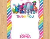 Trolls 'Thank You' Card