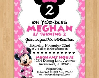 Minnie Mouse Inspired Birthday Invitation