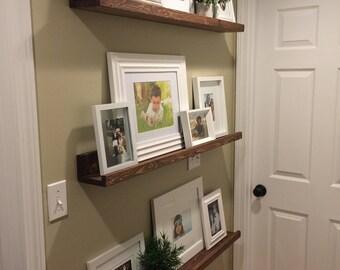 Picture Ledge Photo Ledge Picture Shelf Picture Shelves Floating Shelves Wood Ledge Shelf Ledge Shelves