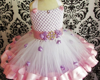White Tutu Dress/White Ribbon Tutu Dress/White Ribbon Tutu/White Tutu/White Dress/White Ribbon Dress/Ribbon Tutu Dress/Pink Tutu Dress