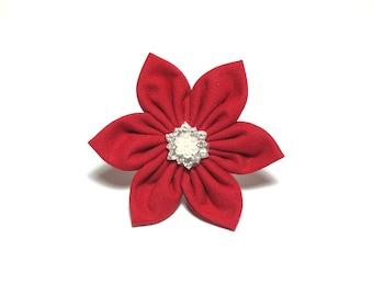 Crimson Flower ONLY for Dog collar, Cat collar, collar flower, pet collar flower, wedding flower, flowers for dog collars