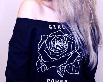 Girl Power Shirt • Feminism T Shirt • Women's Feminist Tee • Girl Power Sweatshirt • Women's Clothing ««« (ots, ss) « g180 « black