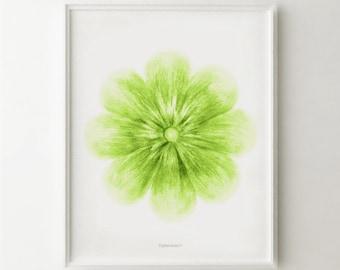 Lime Green Art Etsy