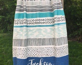 Personalized baby boy blanket, Custom name blanket, blanket with name