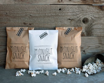 Wedding Favor Bags - Midnight Snack Bags, Rehearsal Dinner, Engagement Party, Popcorn Bags