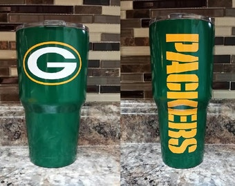 Green Bay Powder Coated Stainless Steel Tumbler/fathers day gift/stainless steel tumbler/Xmas gift/Xmas gift/RTIC tumbler/Packers cup/Packer