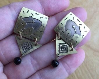 Spirit bear earrings -- 502