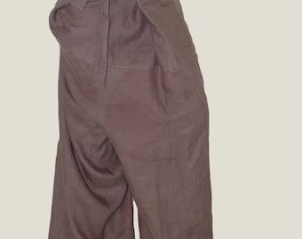 Loose Linen  Pants/Linen Harem Pants/Wide Leg Pants/Skirt Pants/Casual Pants/Fashion Pants/F1020