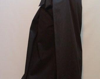 Wide Leg Pants/Casual Cotton Pants/Loose Cotton Pants/High Waist Pants/Black Pants/Fashion Pants/F1483