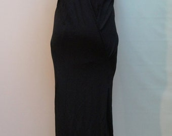 Casual Maxi Dress /Loose Open Back Black Dress/ Extravagant Dress/Party Dress/Asymmetrical Dress/F1432