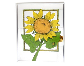 Vintage 70s Turner Wall Accessory Sunflower Ladybug Painted Mirror Retro Kitsch Groovy Size 20x16