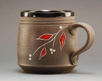 Pottery mug, mug, coffee mug, handmade ceramic mug, pottery coffee mug, handmade coffee mug , handmade mug, black mug, brown mug, tea cup
