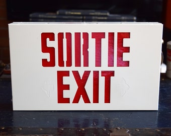Exit Sign Etsy