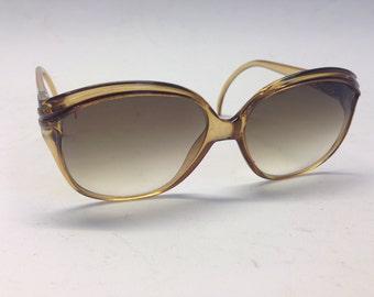 Christian Dior   Vintage   1970s   Sunglasses   Oversize   Honey/black   Mod. 2110 10