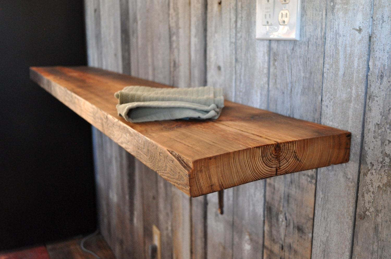 Reclaimed Wood Mantel Rustic Shelf Brackets Wood Shelf