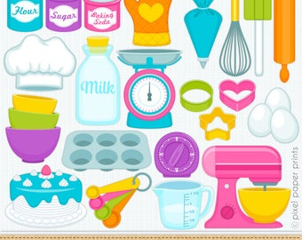 Baking clipart- Digital Clip Art - Personal and commercial use