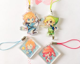 The Legend of Zelda Charms 1.5inch Clear Acrylic Double-Sided
