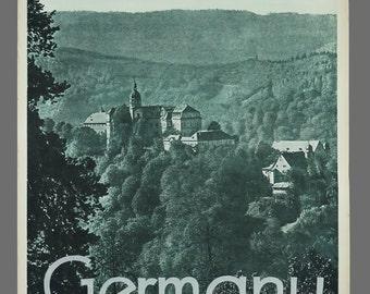 1960s Germany Thuringia Schwarzburg Castle Travel Poster 19.75 x 29 Vintage Poster Original