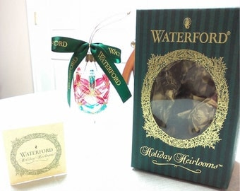 Waterford Lismore Heirlooms Mini Wine Glass Ornament Waterford Christmas Tree Ornament Glass Christmas Decoration