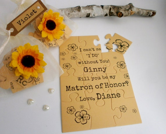 Be My Matron Of Honor Rustic Bridesmaid Proposal Card Will