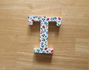 T is for Tina - Decoupaged wooden letter