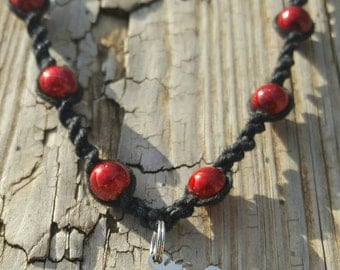 Psychopathic Hatchet Girl Handmade Hemp Necklace