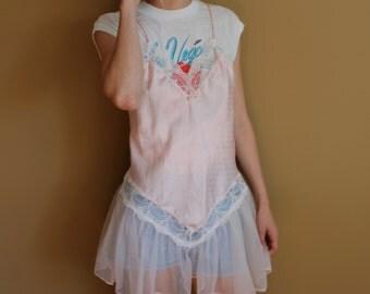 Frilly Pink Slip Dress