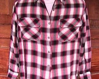 Vintage Rafaela Plaid Long Sleeve Shirt