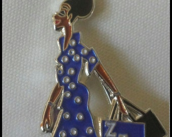 Zeta Phi Beta Sorority Lady Diva Lapel Pin