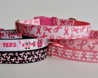Pink Awareness Dog Collars - Ready to Ship!