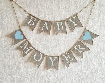 Burlap Baby Banner, Baby Banner, baby shower banner, baby shower bunting, oh baby banner, Shower Decor, baby shower decorations, baby shower