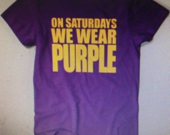 We wear purple on Saturday at ECU   SHIPPING INCLUDED