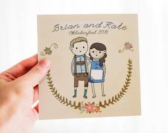 Custom Portrait art, illustration! Perfect gift for birthday, weddings, graduations, Valentine's dayFree Shipping US Physical Copy+ Digital!