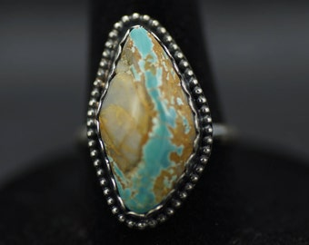 Natural Royston Ribbon Turquoise Ring US Size 6.5