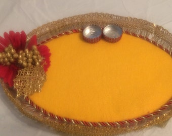 Wedding trays/ Designer trays/ Haldhi Kumkum trays - Single Piece