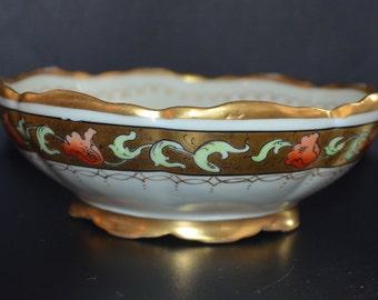 PICKARD Studios Porcelain Bowl Hand Painted Tomascheko Poppy Pattern