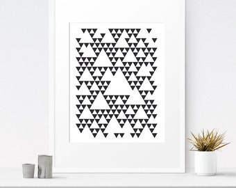 Bohemian art, Living room poster, Geometric art, Downloadable prints, Scandinavian posters, Contemporary artwork, Black and white