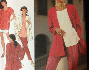 Style Pattern 2241 - Loose Fitting Jacket and Top with Pull on Shorts and Pants - Size 8 10 12 14 16 18