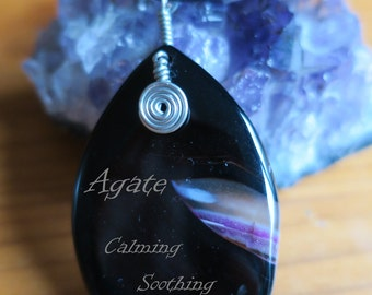 Wire Wrapped Agate Stone