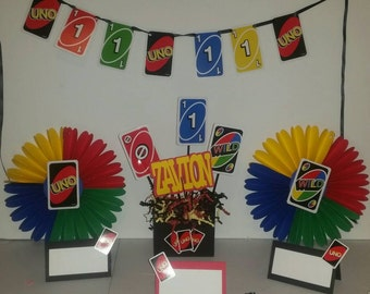 Uno Birthday Decorations. Uno Banner, I am UNO, I am 1, Invitation